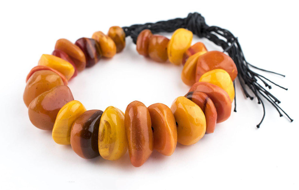 Moroccan Amber Resin Chunk Beads - The Bead Chest
