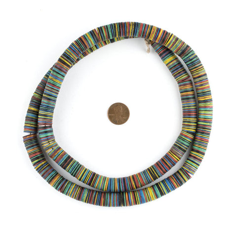 Multicolor Medley Vintage Vinyl Phono Record Beads (12mm) - The Bead Chest