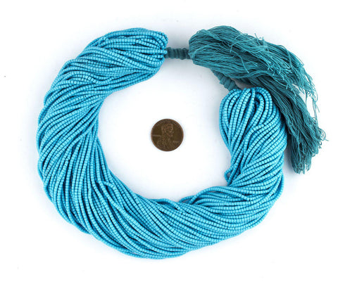Turquoise Blue Afghani Tribal Seed Beads - The Bead Chest