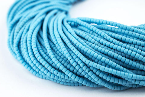 Image of Turquoise Blue Afghani Tribal Seed Beads - The Bead Chest