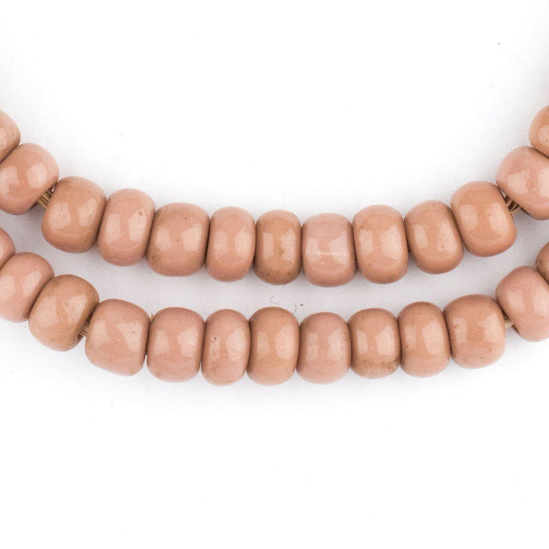 Cheyenne Pink Round Glass Beads (8mm) - The Bead Chest