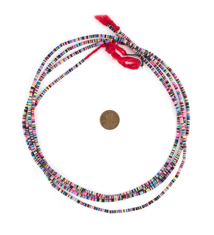Multicolor Vinyl Phono Record Beads (3mm) - The Bead Chest