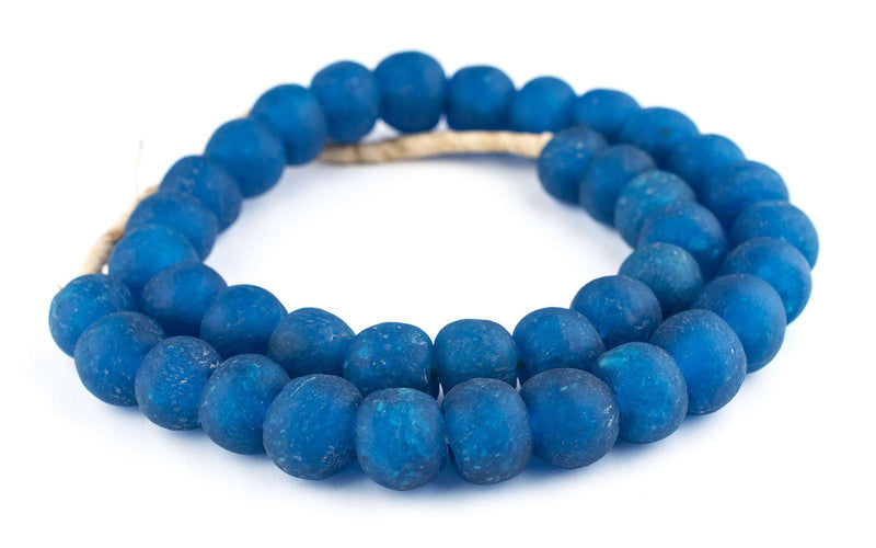 Azul Recycled Glass Beads (18mm) - The Bead Chest