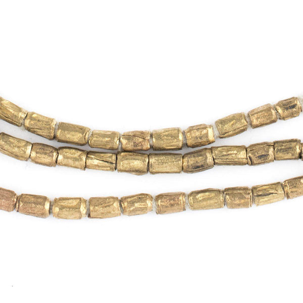 Brass Ethiopian Scratch Beads (5x4mm) - The Bead Chest