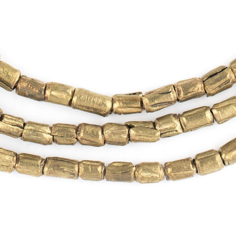 Brass Ethiopian Scratch Beads (7x5mm) - The Bead Chest