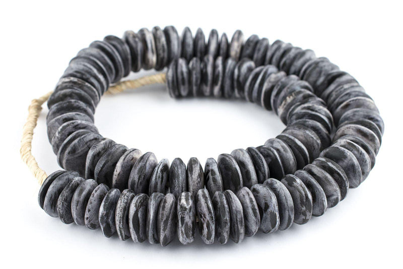 Rustic Grey Kenya Bone Beads (Disk) - The Bead Chest