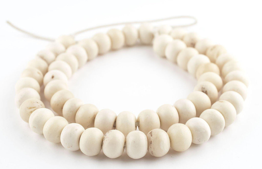 Round White Bone Beads (14mm) - The Bead Chest