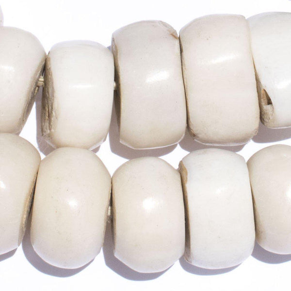 Polished Kenya White Bone Beads (Large) - The Bead Chest