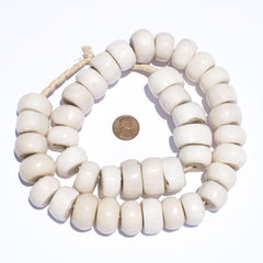 Polished Kenya White Bone Beads (Large)