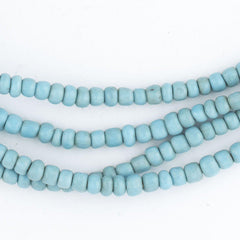 Vintage Turquoise Blue Glass Beads (2 Strands)