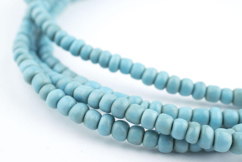 Vintage Turquoise Blue Glass Beads (2 Strands) - The Bead Chest