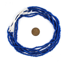 Cobalt Blue Java Glass Heishi Beads