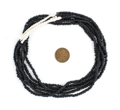 Black Java Glass Heishi Beads