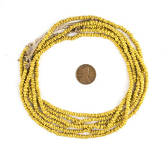 Yellow Java Glass Heishi Beads