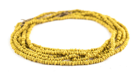 Image of Yellow Java Glass Heishi Beads - The Bead Chest
