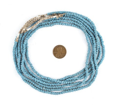 Sky Blue Java Glass Heishi Beads