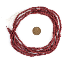 Red Java Glass Heishi Beads