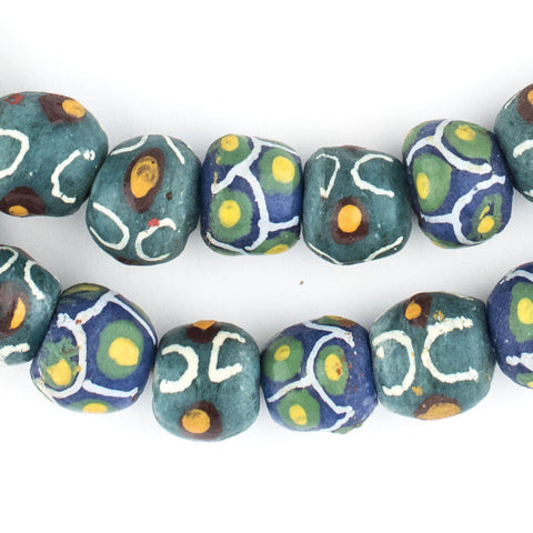 Image of Mixed Green Krobo Beads - The Bead Chest