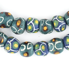 Mixed Green Krobo Beads