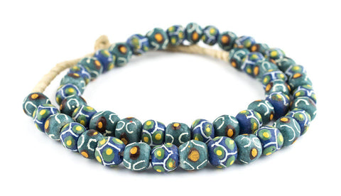 Mixed Green Krobo Beads - The Bead Chest