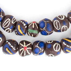 Mixed Brown Krobo Beads