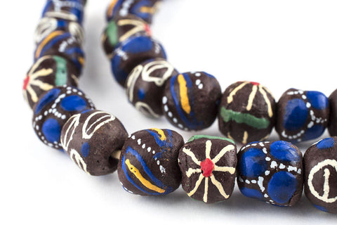 Mixed Brown Krobo Beads - The Bead Chest