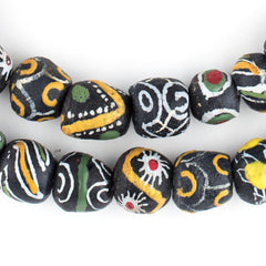 Mixed Black Krobo Beads