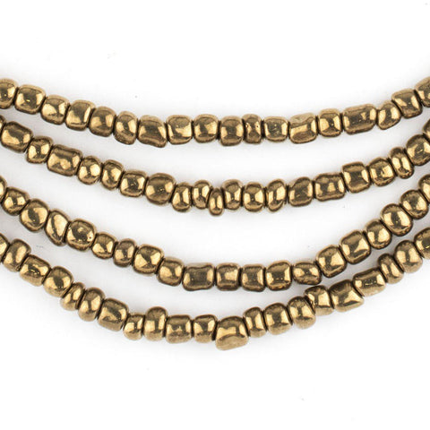 Brass-Style Ghana Glass Seed Beads - The Bead Chest