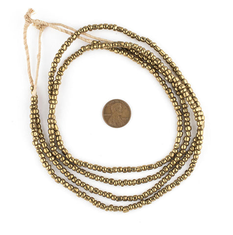 Image of Brass-Style Ghana Glass Seed Beads - The Bead Chest