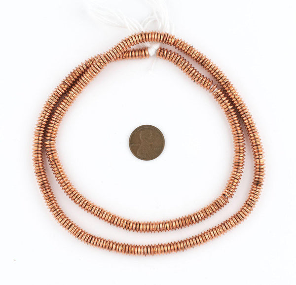Smooth Extra Large Copper Heishi Beads (6mm)