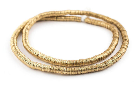 Gold Color Interlocking Crisp Beads (6mm) - The Bead Chest
