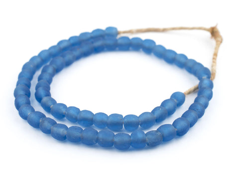 Image of Blue Recycled Glass Beads (9mm) - The Bead Chest