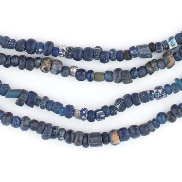 Blue Ancient Djenne Nila Glass Beads - The Bead Chest