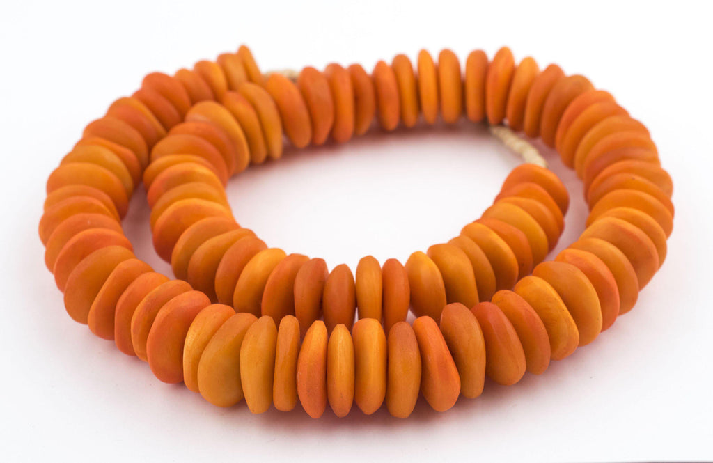Kenya Coral Bone Beads (Disk) - The Bead Chest