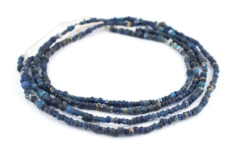 Image of Blue Ancient Djenne Nila Glass Beads - The Bead Chest