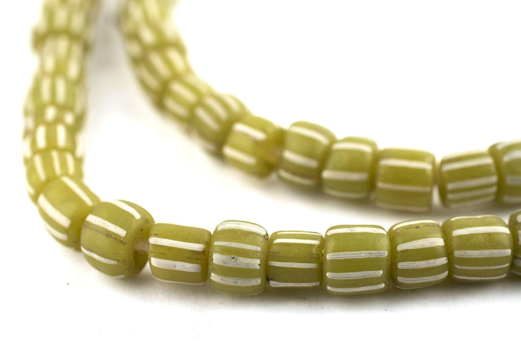 Olive Green Java Gooseberry Beads - The Bead Chest