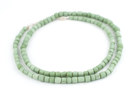 Pistachio Green Java Glass Beads - The Bead Chest
