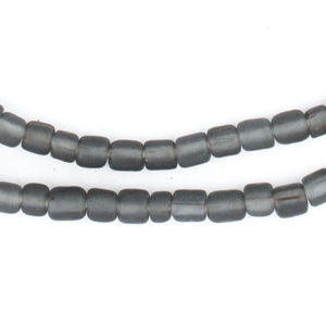Translucent Grey Java Glass Beads - The Bead Chest