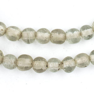 Clear Ancient Style Java Glass Beads (9mm) - The Bead Chest