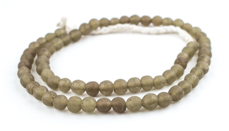 Groundhog Grey Ancient Style Java Glass Beads (9mm) - The Bead Chest