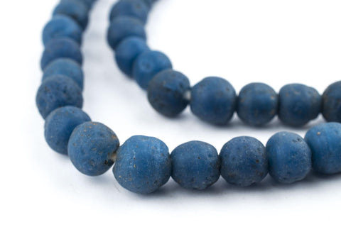 Opaque Teal Ancient Style Java Glass Beads (9mm) - The Bead Chest