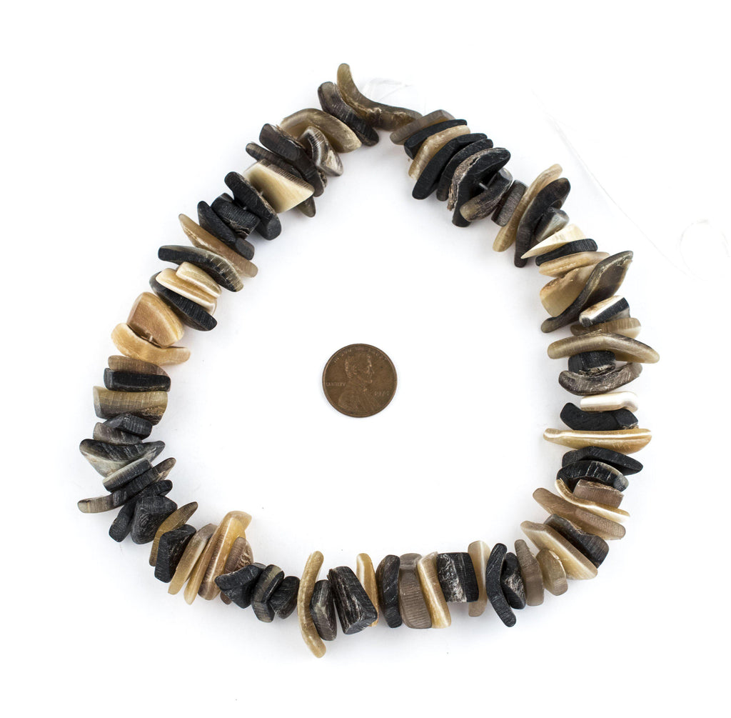 Sliced Natural Horn Beads - The Bead Chest