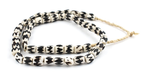 Image of Chevron Batik Bone Beads (Small) - The Bead Chest