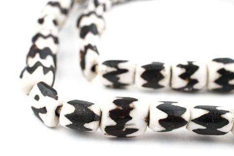 Chevron Batik Bone Beads (Small) - The Bead Chest