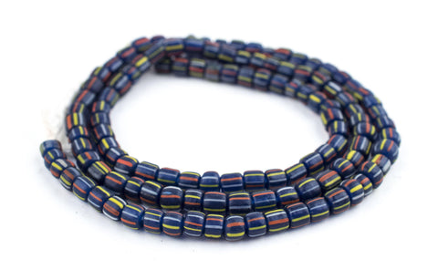 Image of Cobalt Stripe Java Gooseberry Beads - The Bead Chest