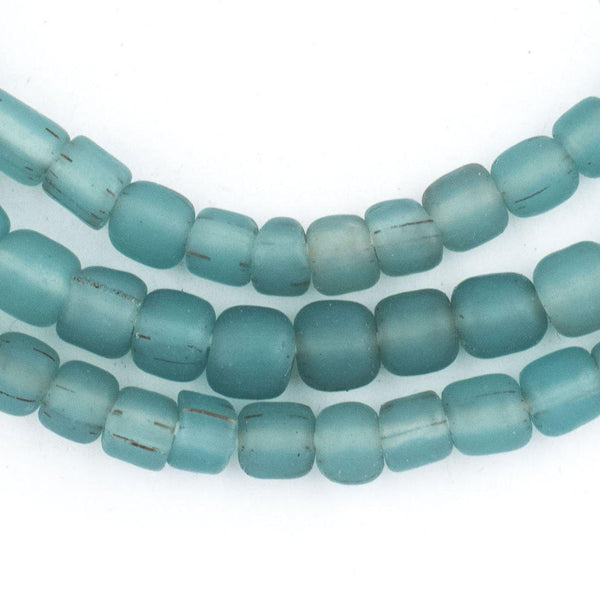 Aqua Java Glass Beads - The Bead Chest