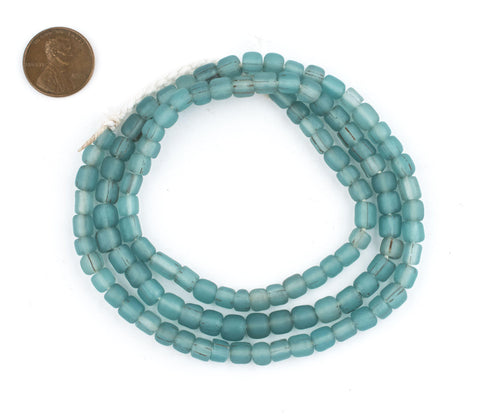 Image of Aqua Java Glass Beads - The Bead Chest