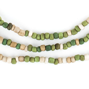 "Green Medley Java Glass Seed Beads (44"" Strand) - The Bead Chest"
