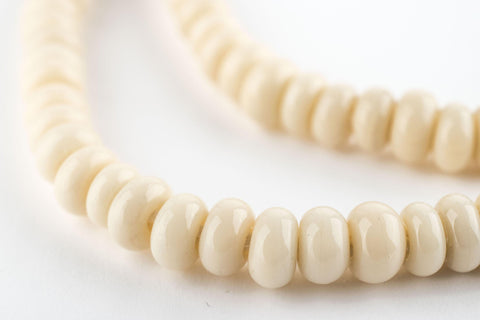 Beige Java Glass Donut Beads (6mm) - The Bead Chest