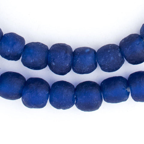 Image of Cobalt Blue Recycled Glass Beads (11mm) - The Bead Chest